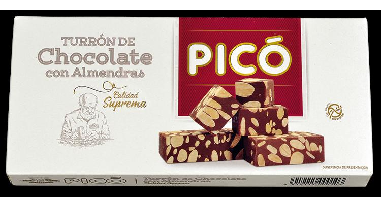 Turrón Chocolate con Almendras C. Suprema