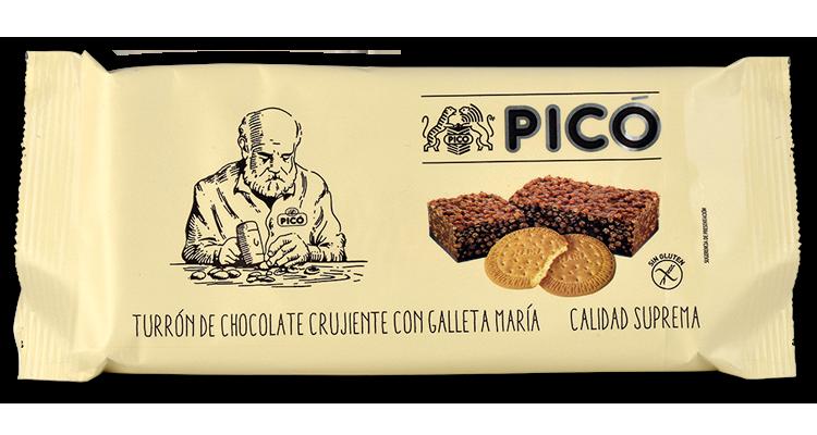 Turrón de Chocolate Crujiente con Galleta María