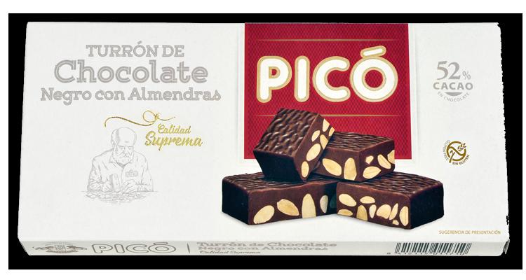 Turrón de Chocolate Negro con Almendras