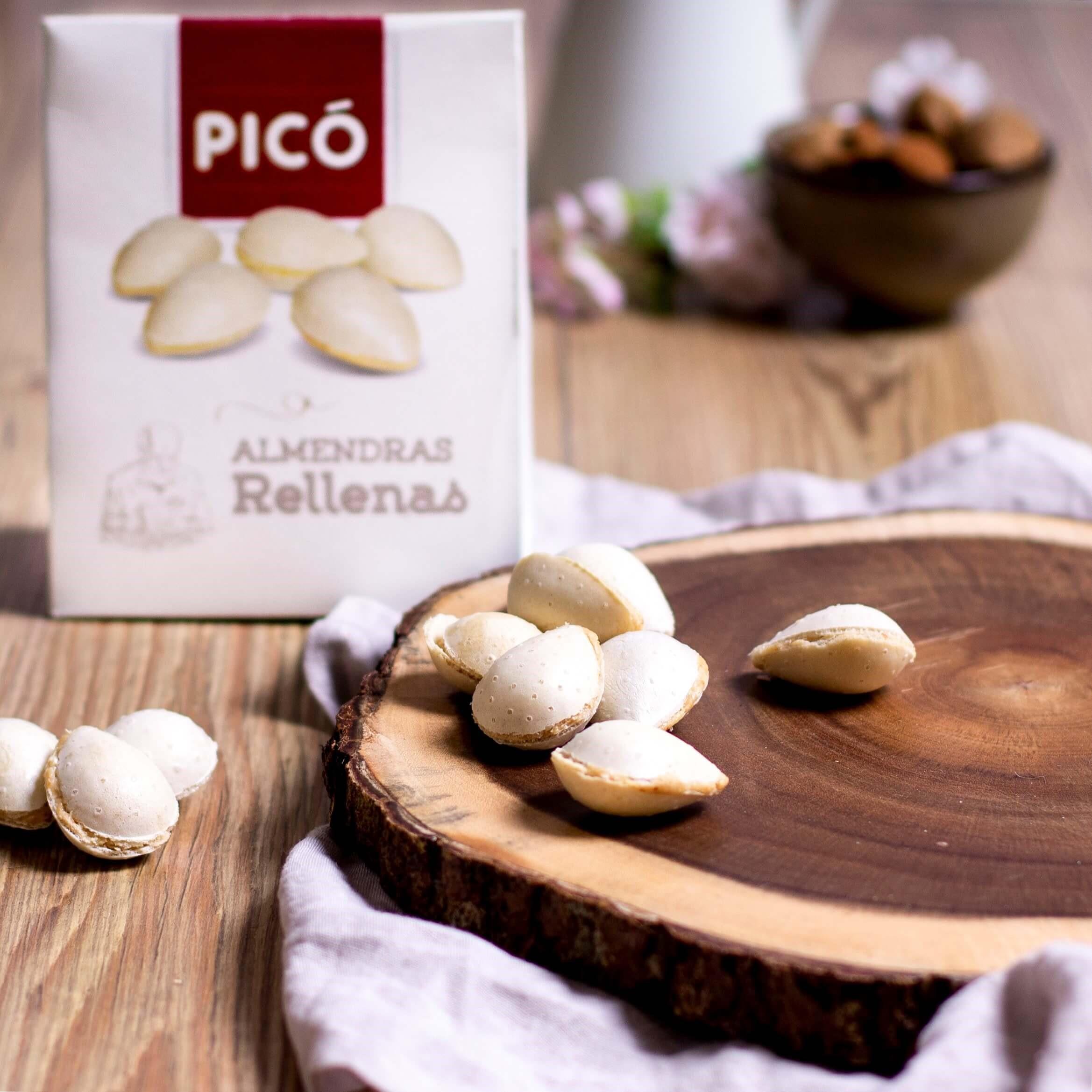 Almendritas rellenas de turrón de Jijona de Turrones Picó ideales para comer en verano