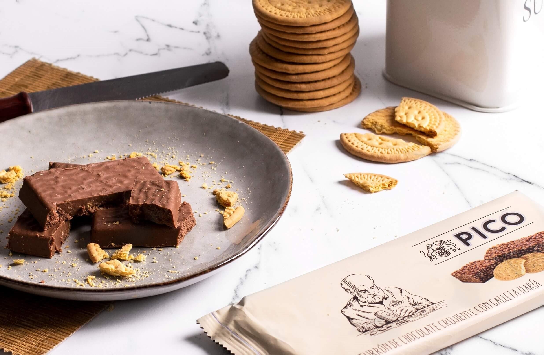 Turrón de Chocolate con galletas María Turrones Picó