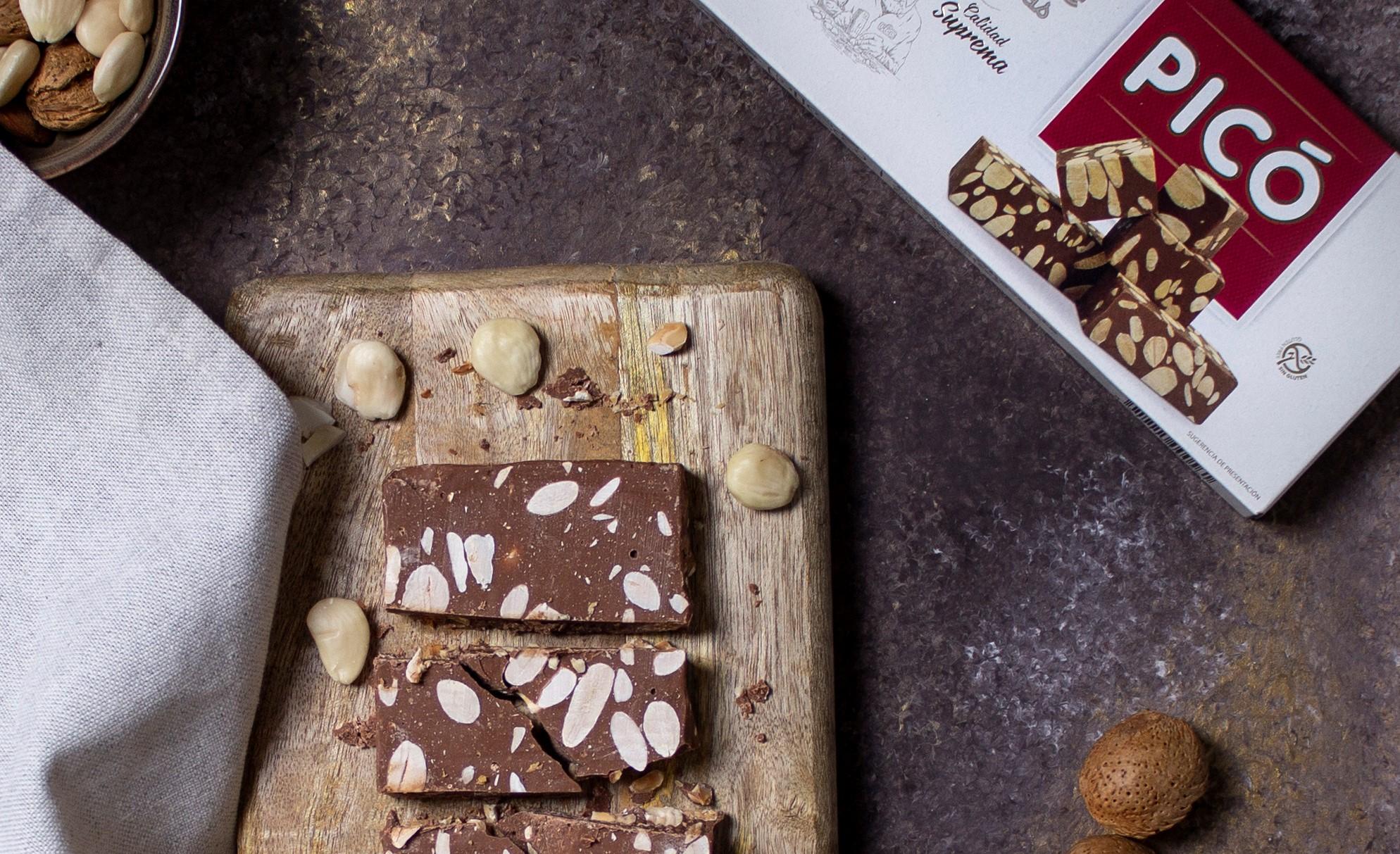 turrón Picó de chocolate con almendras para el black friday