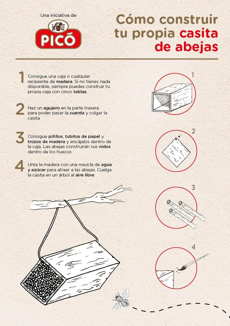 Turrones Picó construir una casita para abejas