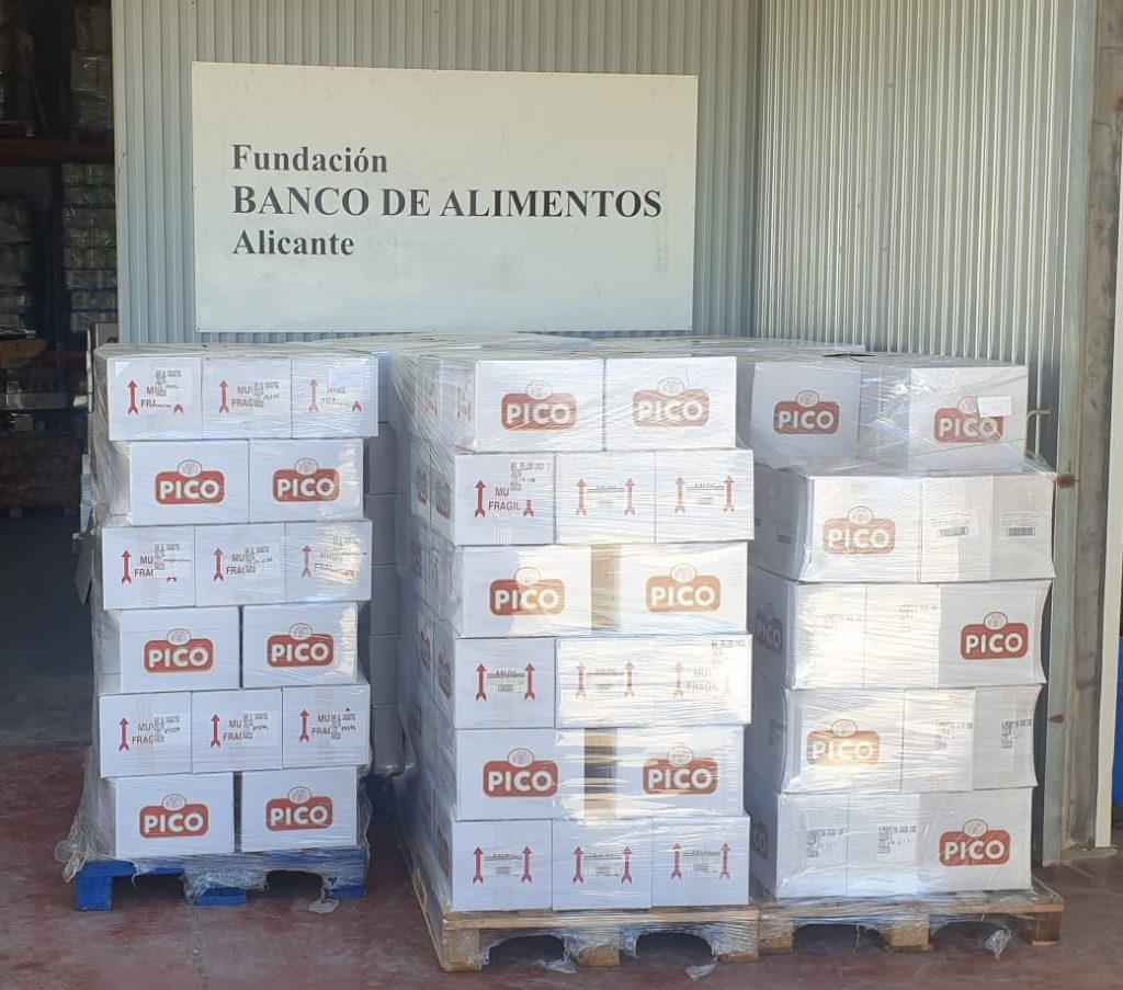 Donación Turrones Picó Banco Alimentos Alicante Covid 19