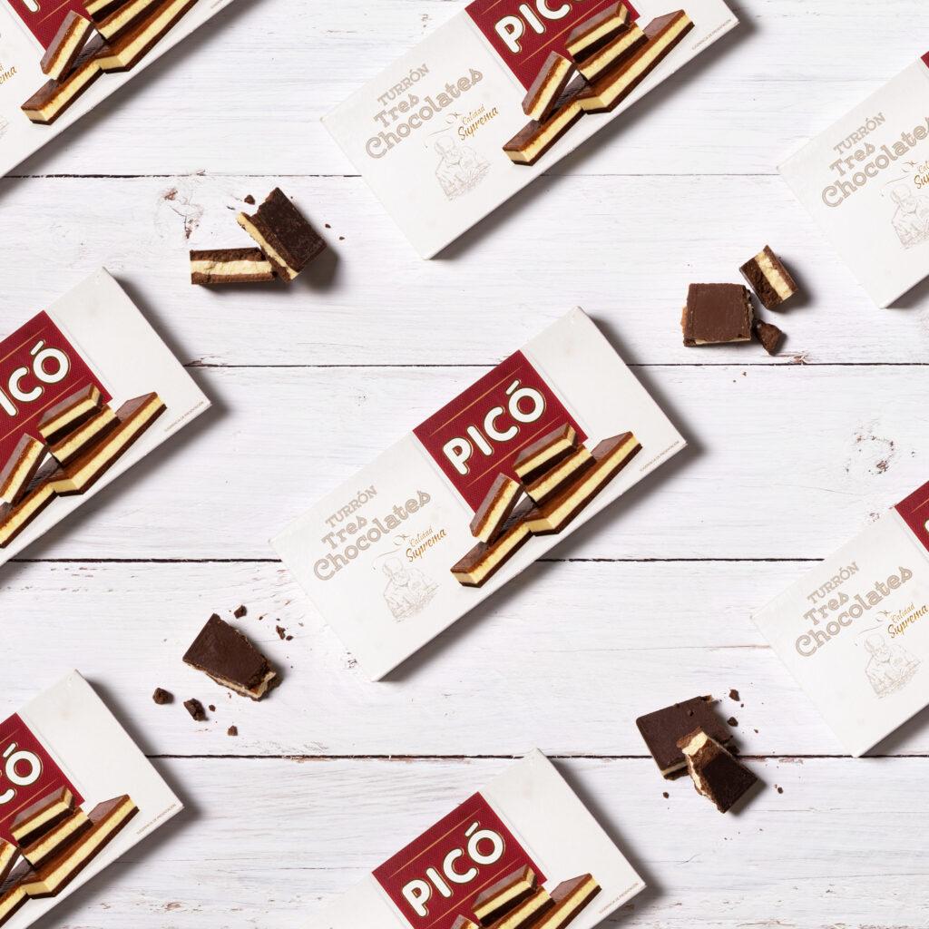 Turrón de tres chocolates de Turrones Picó