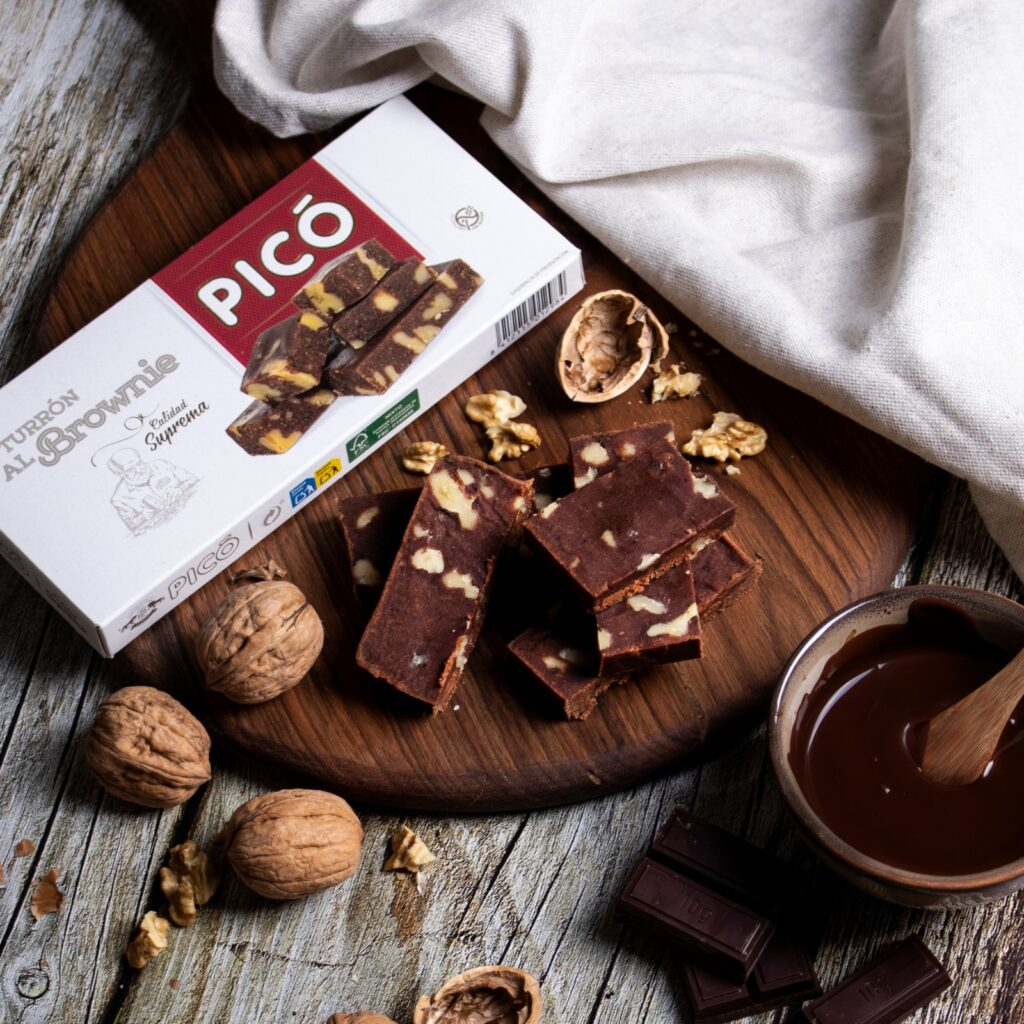 Turrón de brownie de turrones Picó